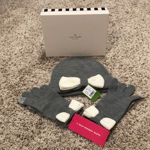 Kate spade hat and glove set